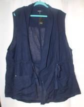 New Womens Plus Size 5X 5 Torrid Navy Blue Drape Front Utility Vest - $29.02