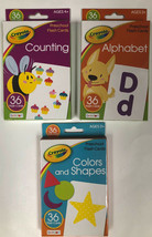 Preschool Flash Cards By Crayola Set Of 3 Learning At Home - $12.55