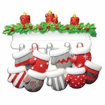 Mitten Family of 9 Personalized Christmas Ornament - $12.26
