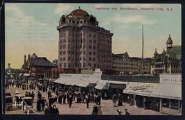 Antique Vintage Postcard Traymore and Boardwalk, Atlantic City, N.J. 1912 - $4.94