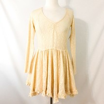 Intimately Free People Tea Star Lace Dress S NWT Cream Skater 90s Grunge - $56.05