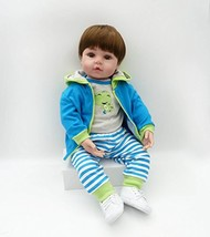 Binxing Toys Reborn Baby Dolls Cute Newborn Boy and Girl Silicone Weight... - $55.64