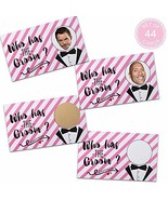 Bridal Shower Games - Who Has the Groom Scratch off Cards Funny Bachelor... - $10.42