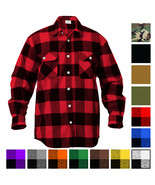 Plaid Flannel Shirt Brawny Buffalo Heavyweight Long Sleeve Checkered Lum... - $39.99+