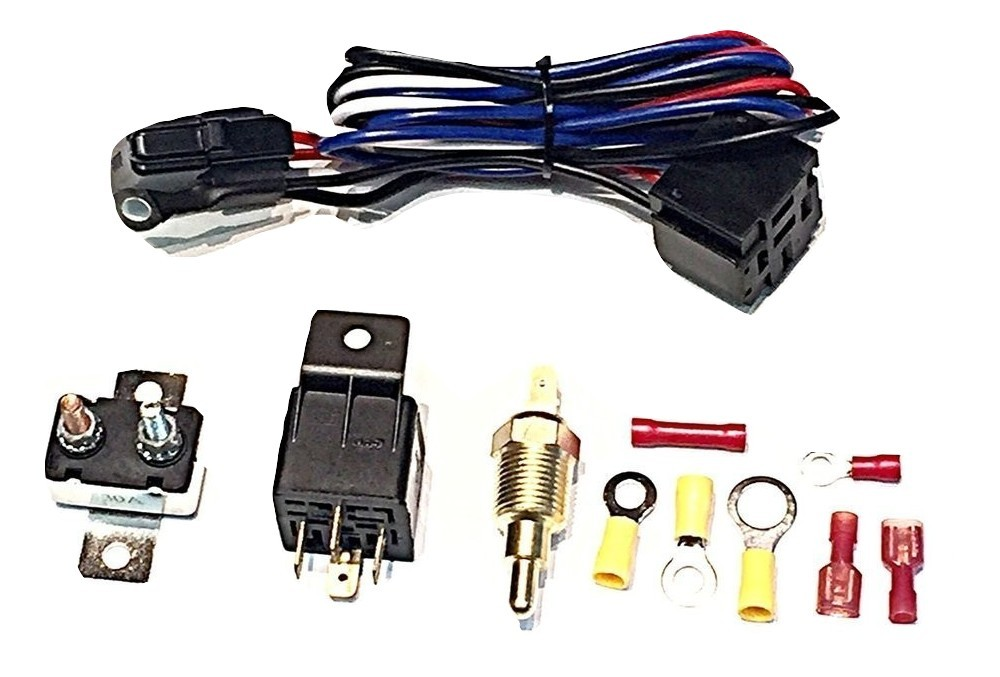 A-Team Performance New Electric Fan Relay W/ Thermostat Install Kit on electric fuel pump circuit, electric fuel pump relay kit, ignition switch wiring, electric fans for cars, electric fan wiring harness, electric brakes wiring, aftermarket electric fan wiring, electric fan relay thermostat, electric power wiring, electric oil cooler wiring, electric fan thermostat wiring, electric vacuum pump wiring, electric motor wiring, electric fuse box wiring, electric gas valve wiring, electric dimmer switch wiring, electric cooling fan wiring, electric fan relay mounting, electric fan wiring diagram, automotive electric fan wiring,