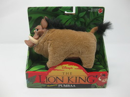 Mattel Disney's The Lion King Pumbaa Stuffed Animal 1994 Mattel New - $21.77