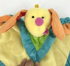 "Fisher Price Dog Baby Security Blanket Lovey Lovie 13"" J2445 Yellow Orange Green - $13.98"