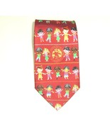 The American Academy Of Pediatrics Red Silk Kids Pattern Necktie Neck Tie  - $19.75