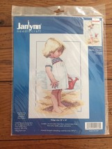 Janlynn Summer Afternoon Cross Stitch Kit Girl on Beach with Watering Ca... - $13.50