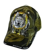 Native Pride Wolf Men's Adjustable Baseball Cap with Border (Camouflage) - $11.95