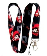 Betty Boop Red Heart and Kiss Lanyard Key Chain Holder - $12.09