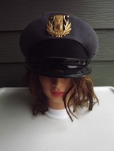 Vintage US Army Military Band Hat with Hat Badge Size 7 - $65.44