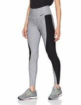 Nike Womens Power Training Leggings Grey/Black Size X-Small - $76.00