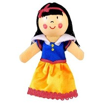 Fiesta Crafts Finger Puppets - Fabric Snow White Finger Puppet With Wood... - $25.00
