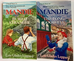 Mandie and the Long Good Bye Mandie and the Buried Stranger lot of 2 books - $14.80
