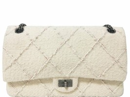 Chanel - Wool Reissue 226 Flap Bag - Ivory - $3,656.99