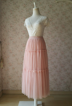 BLUSH Tiered Midi Skirt Blush High Waisted Tiered Tulle Skirt Plus Size image 4
