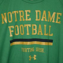 Under Armour Tech Tee Green Notre Dame Football Fighting Irish Men's Shirt XL image 4
