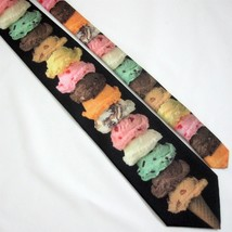 Ice Cream Cone Necktie Neck Tie Ralph Marlin & Co. 151139 Made in USA 1997 - $15.47