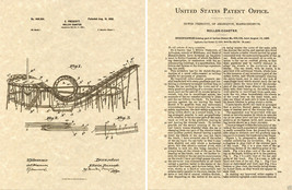 1898 US PATENT LOOP ROLLERCOASTER Print READY TO FRAME Roller Coaster - $9.98