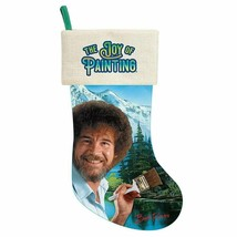 Bob Ross Canvas Christmas Stocking - $18.95