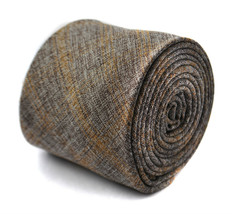 grey and brown check linen tie 8cm by Frederick Thomas FT2012 - $13.91