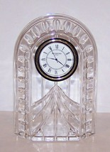 "EXQUISITE SIGNED WATERFORD CRYSTAL BEAUTIFULLY CUT 5 1/4"" CLOCK - $42.07"