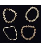 Beaded Stretchy Bracelets Qty 80 Glass Plastic Base Metal Elastic - $79.70