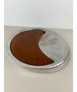 Nombe Aluminum and Wood Cheese Platter Peter Stothis - $98.99