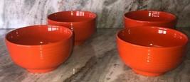 Set Of 4 Royal Norfolk Pumpkin Orange CEREAL/SERVING Ribbed BOWL-RARE-BRAND New - $39.48