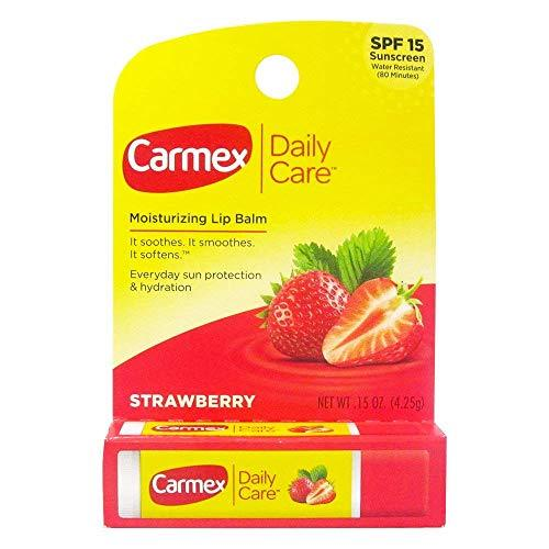 Carmex Click-Stick Moisturizing Lip Balm SPF 15 Strawberry 0.15 oz Pack of 12