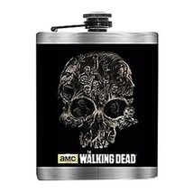 "THE WALKING DEAD ""SKULL  ZOMBIES FLASK"" NEW IN PACKAGE - $16.78"