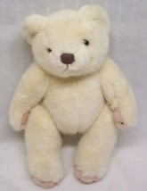 VINTAGE Mary Meyer CREAM & PINK FULLY JOINTED TEDDY BEAR Plush Stuffed A... - $19.80