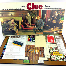 Clue Board Game Vintage 1972 Parker Brothers Canadian Bilingual French English - $38.00