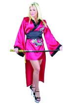 RED GEISHA GIRL MEDIUM 8-10 ADULT HALLOWEEN COSTUME - $37.91