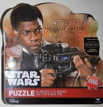 "Disney Star Wars The Force Awakens 1000 Piece Puzzle in Tin  FINN  18"" x... - $13.08"