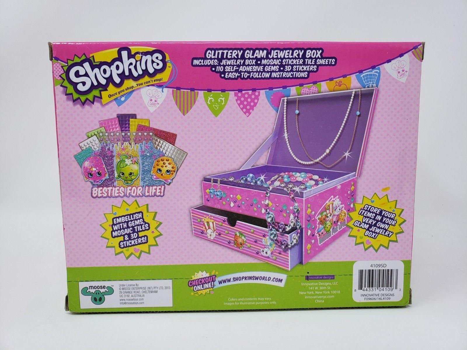 Shopkins Glittery Glam Jewelry Box - New
