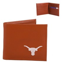 Texas Longhorns Mens Tan Leather Bi-fold Wallet - $19.80