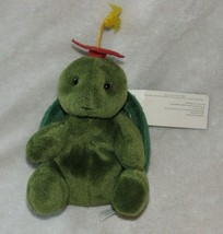 Russ Stuffed Plush Green Turtle Bean Bag Graduate Graduation Cap Hat Swi... - $39.59