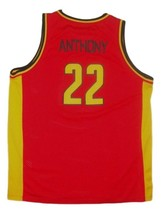 Carmelo Anthony Oak Hill Custom Basketball Jersey Sewn Red Any Size image 5