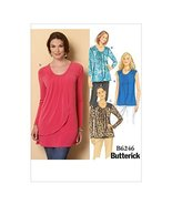 Butterick Patterns B6246E50 Misses Top, E5 (14-16-18-20-22) - $14.70