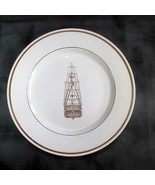"Royal Doulton Steelite 12"" Hotelware Plate, Tall Mast Gold Ship (Mayflow... - $10.39"
