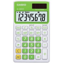 CASIO SL300VCGNSIH Solar Wallet Calculator with 8-Digit Display (Green) - $23.03