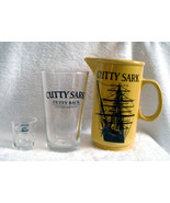 Cutty Sark Scotch Whisky Pitcher, Pint & Shot Glass Cutty Leads Beer Fol... - $34.02