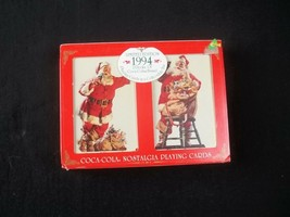 Coca Cola Christmas Playing Cards Hinged Tin 1994 Limited Edition Sealed... - $12.82