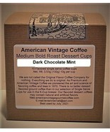 Dark Chocolate Mint flavored Dessert Coffee 10 Medium Bold Roasted K-Cups - $9.21