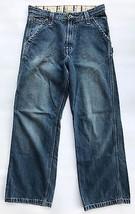 Levis Boys Youth Carpenter Jeans Blue Denim Size 20 Regular 30 x 29 - $17.76