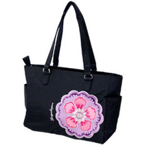 Longaberger Sisters Charmed Large Black Pink Tote Bag Purse New In Bag G... - $18.76