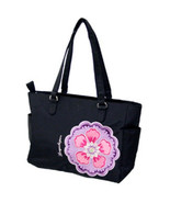 Longaberger Sisters Charmed Large Black Pink Tote Bag Purse New In Bag G... - $18.76
