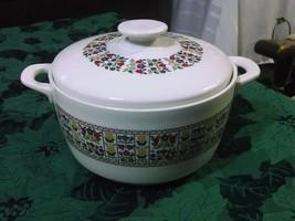Royal Doulton Fireglow Medium Round White Handles Oven To Table Casserole - $59.97